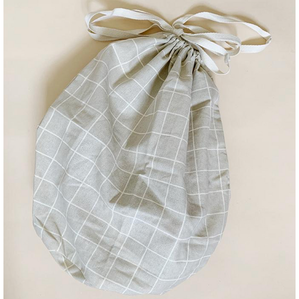 Haps Nordic Organic Large Oyster Grey Check Multi Bag