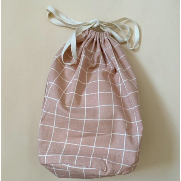 HAPS NORDIC ORGANIC LARGE ROSE CHECK MULTI BAG