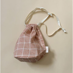 HAPS NORDIC ORGANIC SMALL ROSE CHECK MULTI BAG