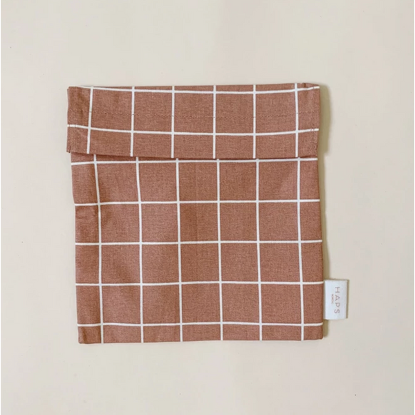 Haps Nordic Organic Terracotta Check Sandwich Bag