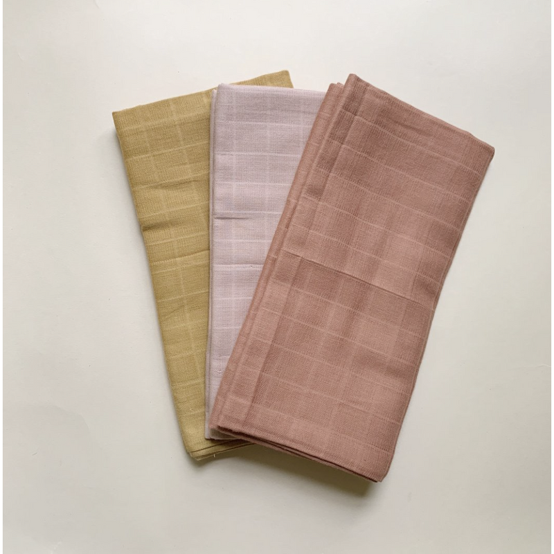 HAPS NORDIC SUI MUSLIN CLOTH 3 PACK - WARM