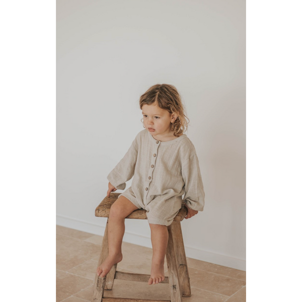 ILLOURA HUSK NATURAL COTTON ROMPER