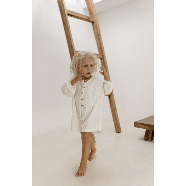 ILLOURA HUSK OFF WHITE COTTON ROMPER