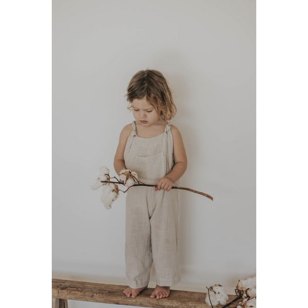 ILLOURA MARLOW NATURAL COTTON OVERALLS