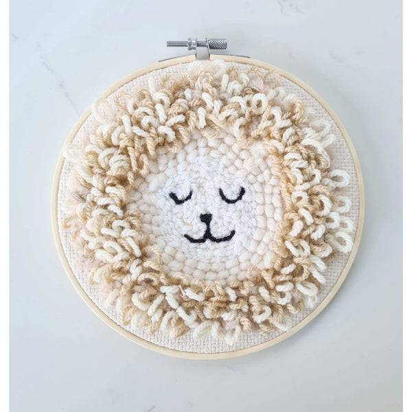 Kinporium Leonard The Lion Natural Embroidery Hoop