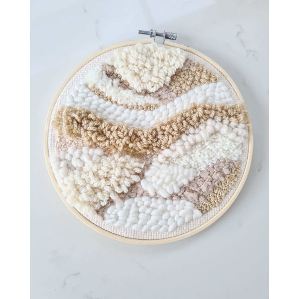 Kinporium Natural Abstract Embroidery Hoop