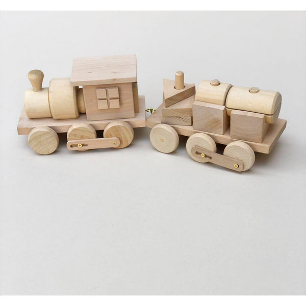 Wooden Shape Sorter Stacking Train