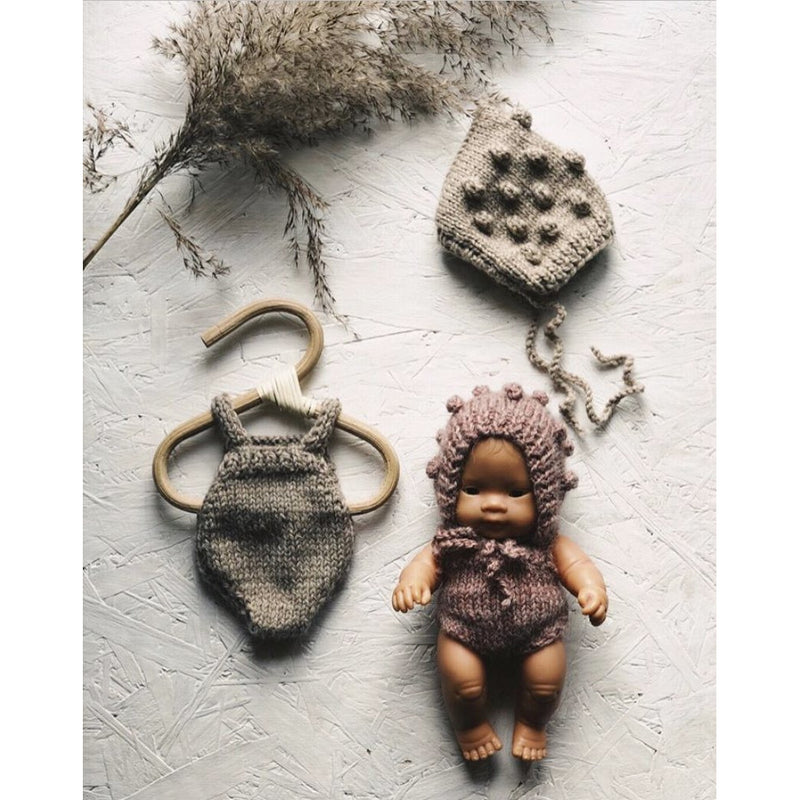 TADAAAM KNIT ROMPER AND POPCORN BONNET - 21CMS