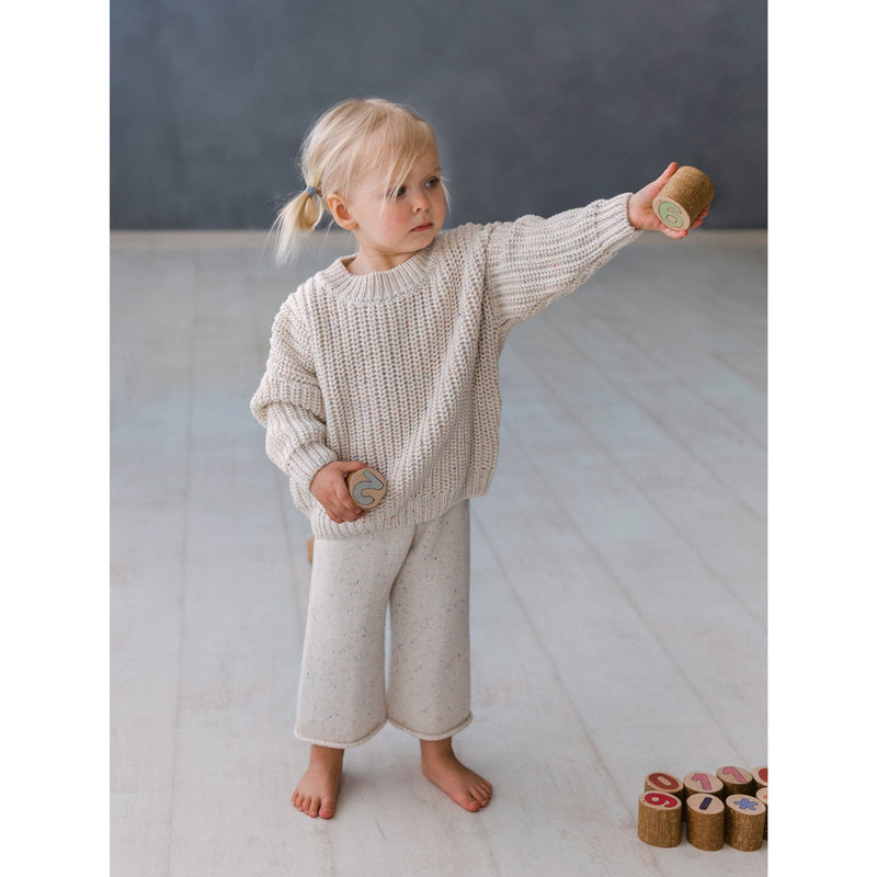 Kids Of April Natural Rainbow Speckle Chunky Knit