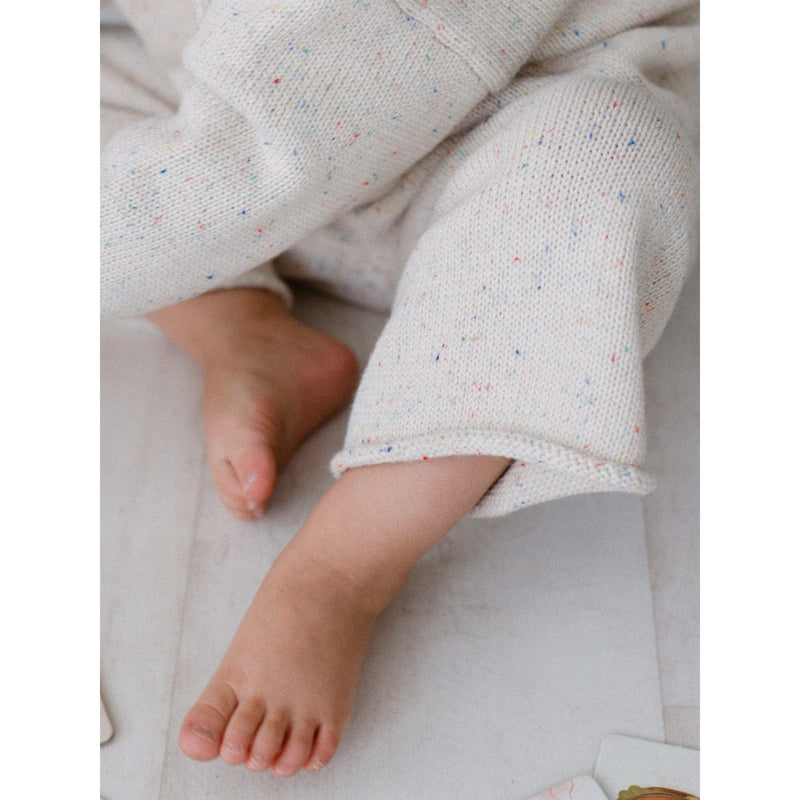 KIDS OF APRIL NATURAL RAINBOW SPECKLE PANTS (PRE ORDER)