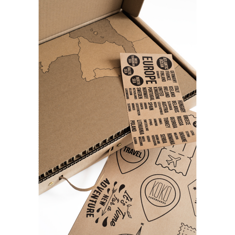 Koko Cardboards Map Of Europe