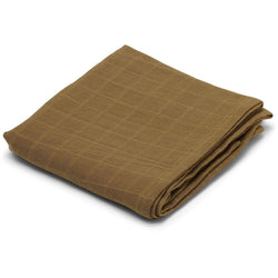 KONGES SLOJD DARK HONEY BIG MUSLIN SWADDLE