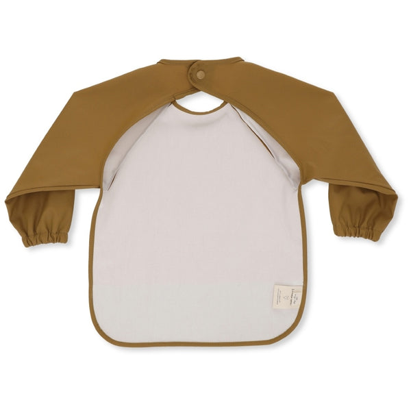 KONGES SLOJD DARK HONEY LONG SLEEVE DINNER BIB