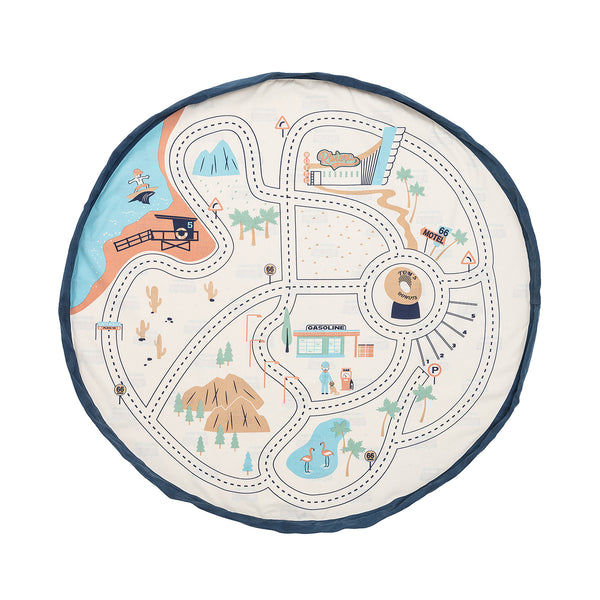 Play And Go LA Roadmap Play Mat Storage Sack