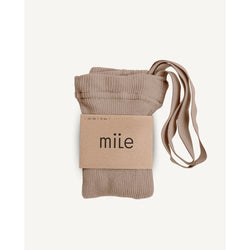 Mile Brown Beige Tights With Braces