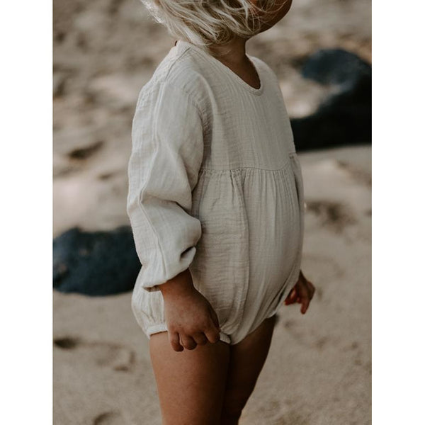 THE SIMPLE FOLK ECRU MEADOW ROMPER