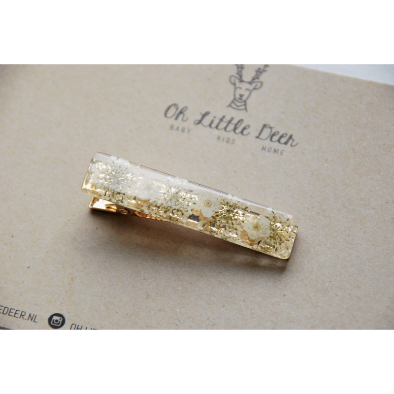 OH LITTLE DEER DRIED FLOWER HAIR CLIP