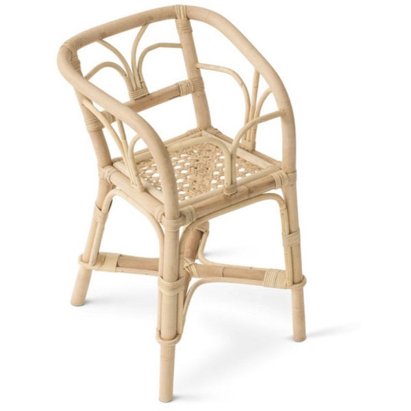 POPPIE TOYS RATTAN DOLLS HIGHCHAIR
