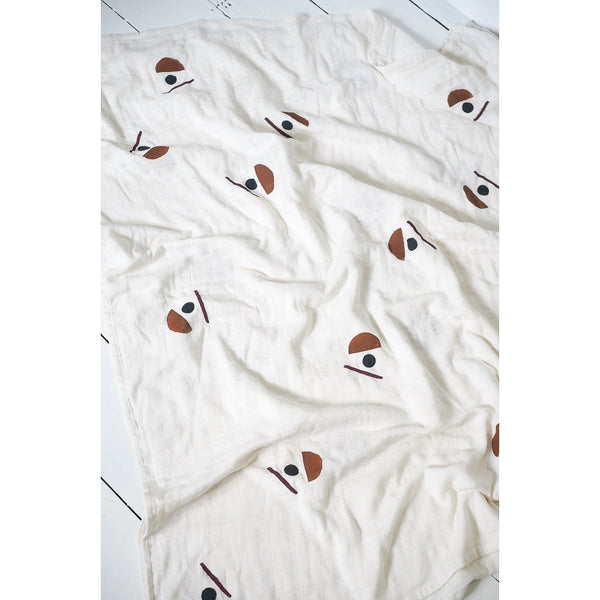 LITTLE BEACON SIGNATURE PRINT MUSLIN