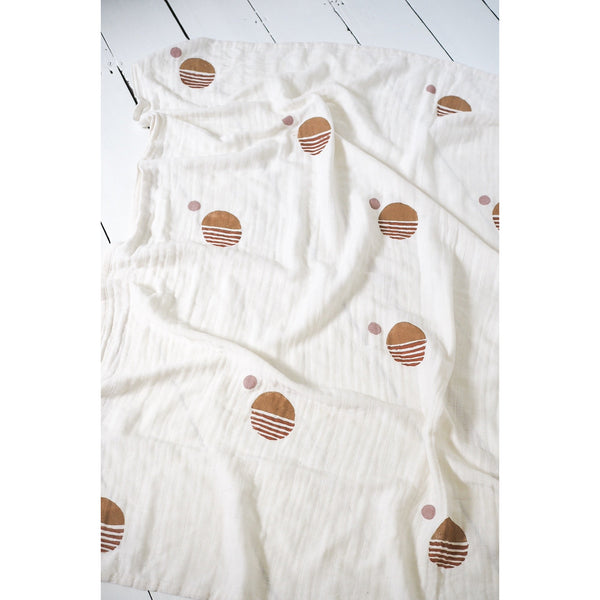 LITTLE BEACON SUN PRINT MUSLIN