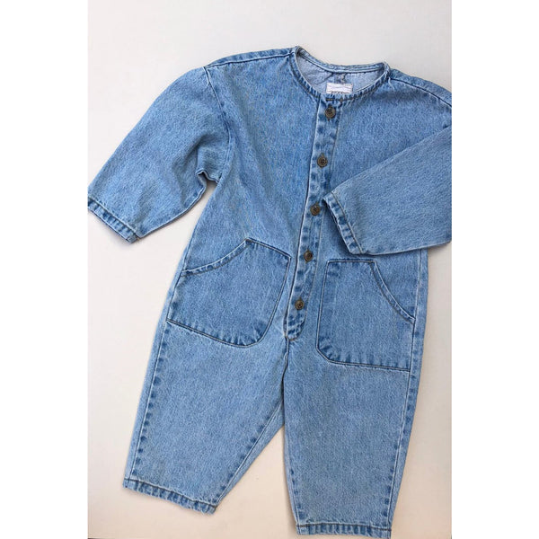 Roda J Oversized Denim Overalls