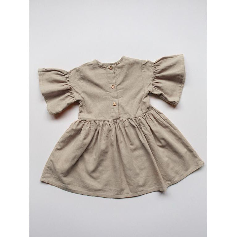 THE SIMPLE FOLK OATMEAL SAGE DRESS