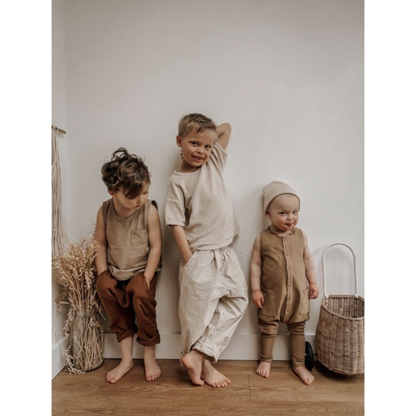 THE SIMPLE FOLK WALNUT FREE RANGE ROMPER
