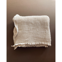 LILLE CREAM WAFFLE BLANKET