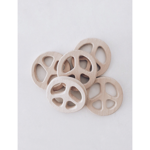 LION AND LAMB NATURAL WOOD PEACE TEETHER