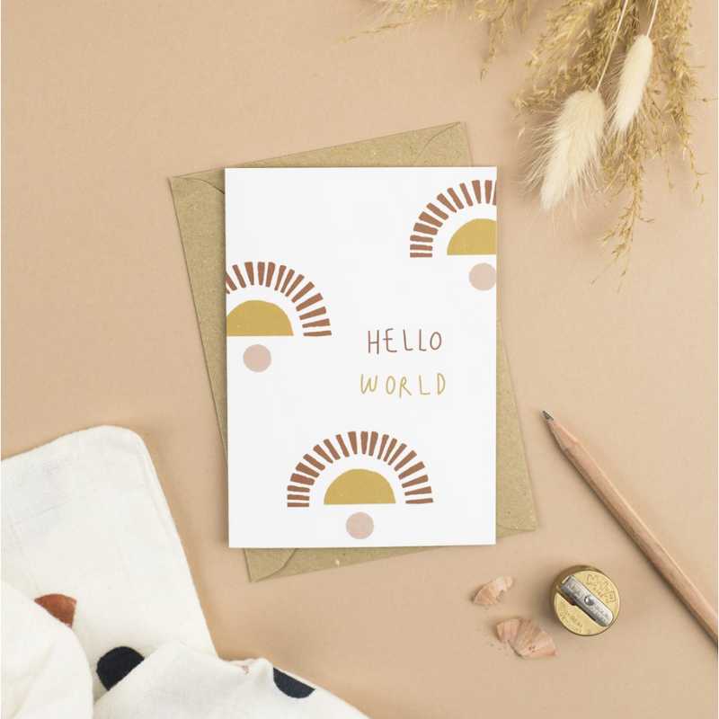 PLEWSY X LITTLE BEACON HELLO WORLD RISE GREETINGS CARD