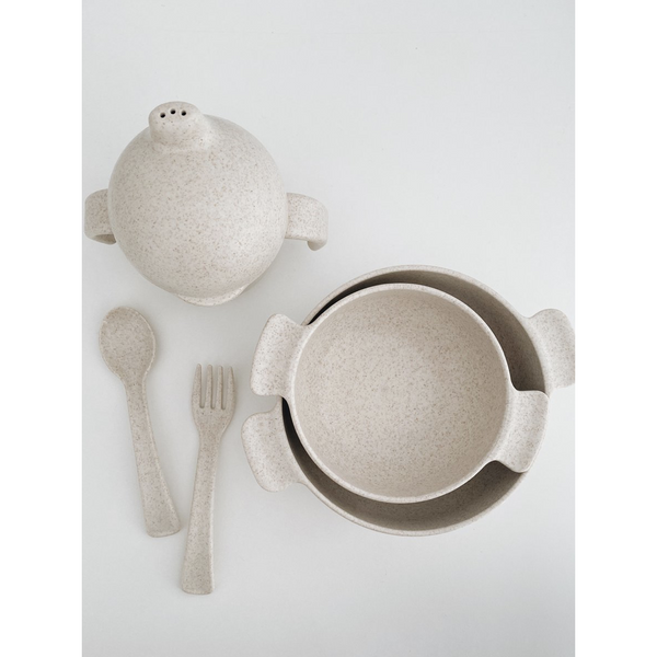 LION AND LAMB OAT WHEAT STRAW DINNER SET (PRE ORDER)