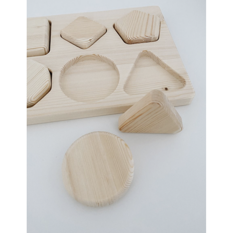 Lion And Lamb Natural Eco Wooden Shape Puzzle