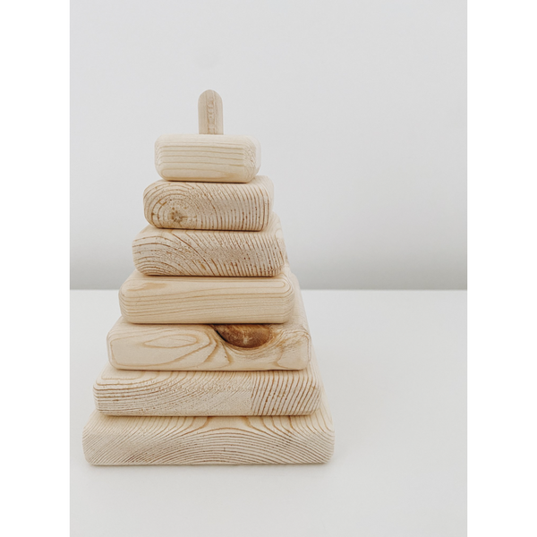 Lion And Lamb Natural Eco Wooden Stacking Tower