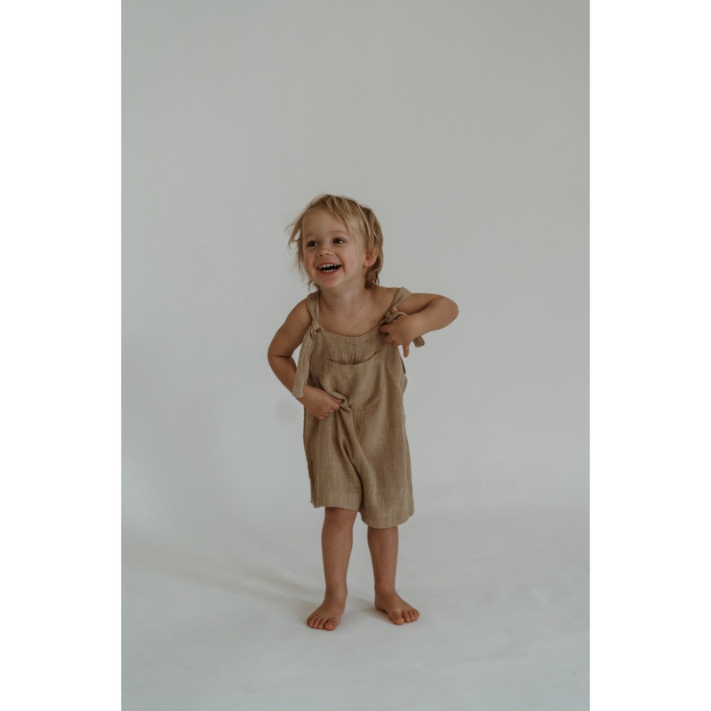 Illoura Marlow Vintage Brown Short Overalls