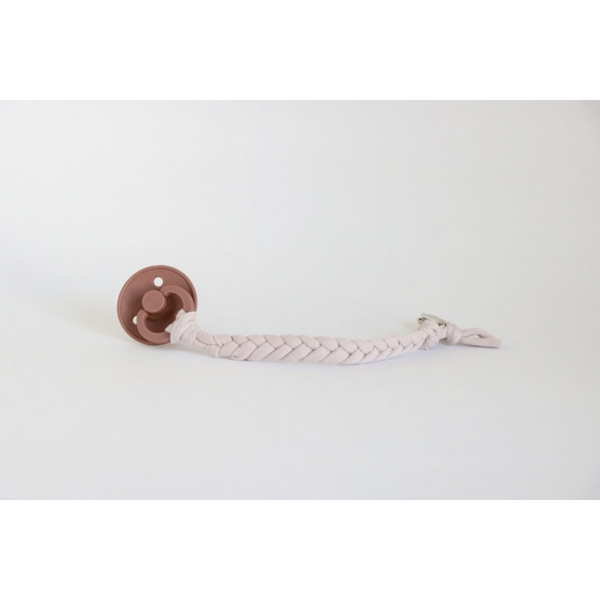 Oh Dubidu Blush Cotton Pacifier Clip