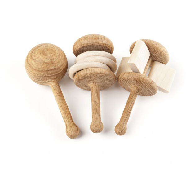 LISLIS TOYS RUSTLE WOODEN RATTLE