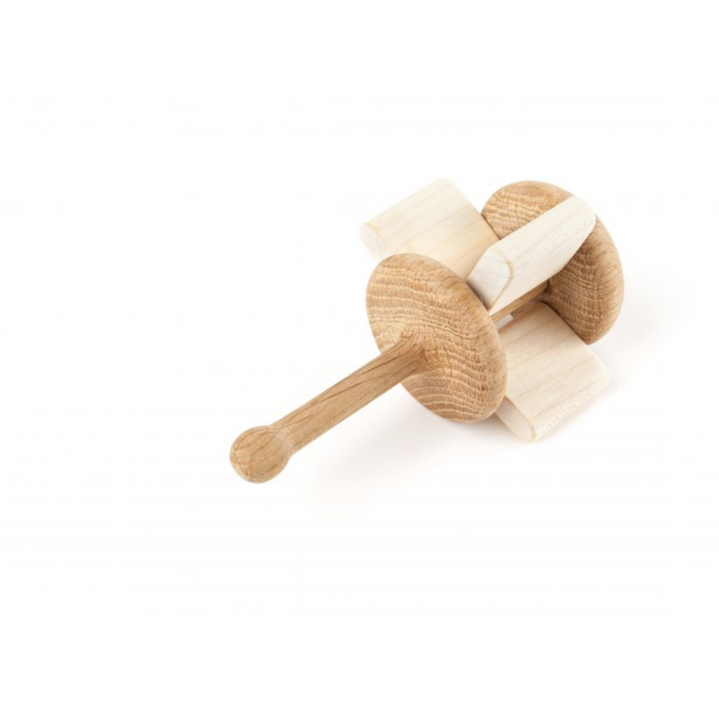 LISLIS TOYS CRACKLE WOODEN RATTLE