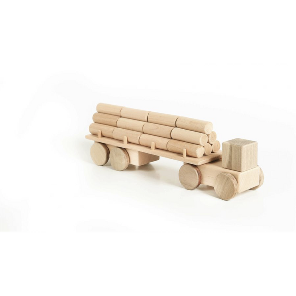 LISLIS TOYS BIG WOODEN LOGGING TRUCK