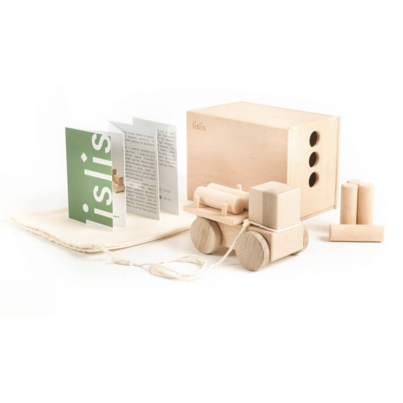 LISLIS TOYS SMALL WOODEN LOGGING TRUCK
