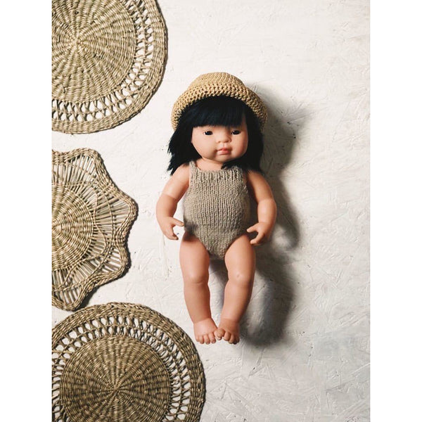 TADAAAM BEIGE RAFFIA DOLLS HAT