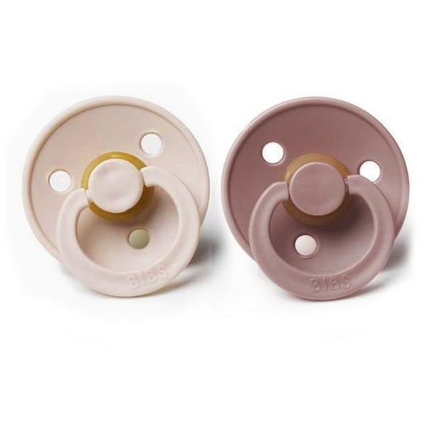 BIBS WOODCHUCK + BLUSH NATURAL RUBBER PACIFIERS