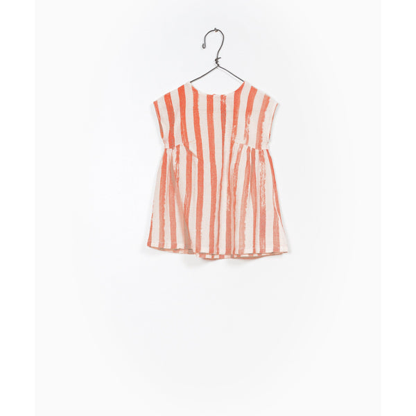 PLAY UP BRICK STRIPE SMOCK DRESS