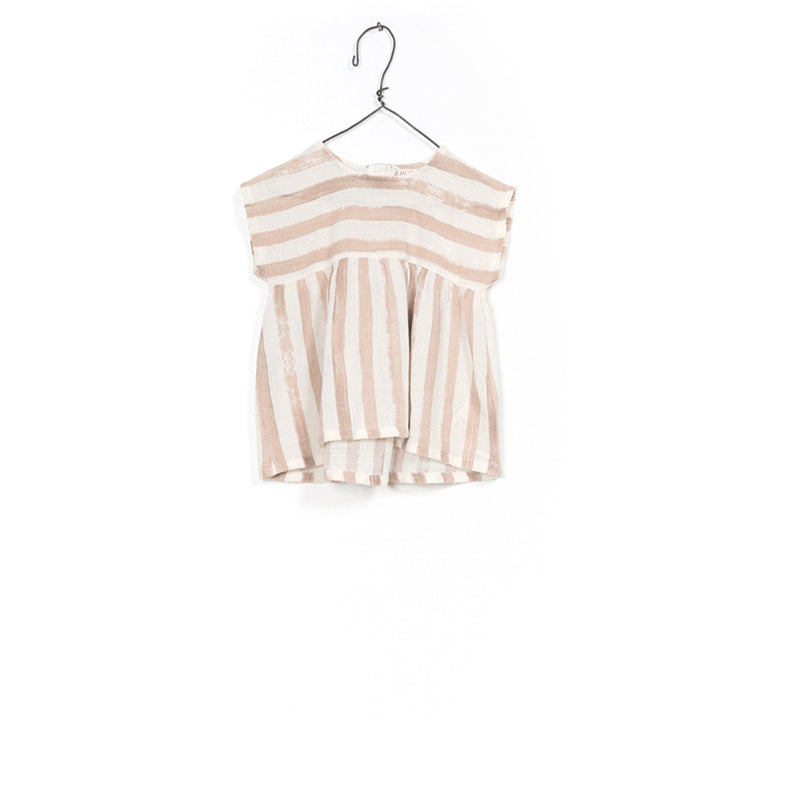 PLAY UP CLAY STRIPE SMOCK TOP