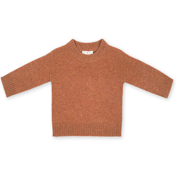 Grown Clay Speckled Merino Wool Jumper