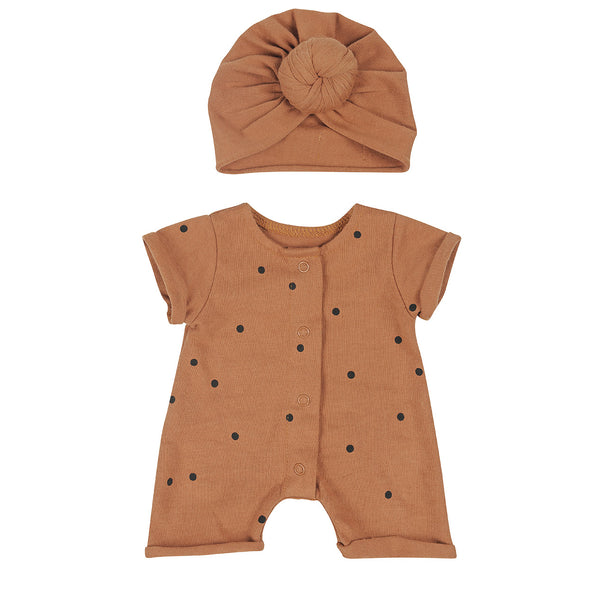 BONJOUR LITTLE NUT DOTS DOLLS OUTFIT