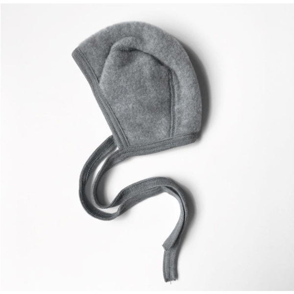 ENGEL NATUR GREY MELANGE WOOL BONNET