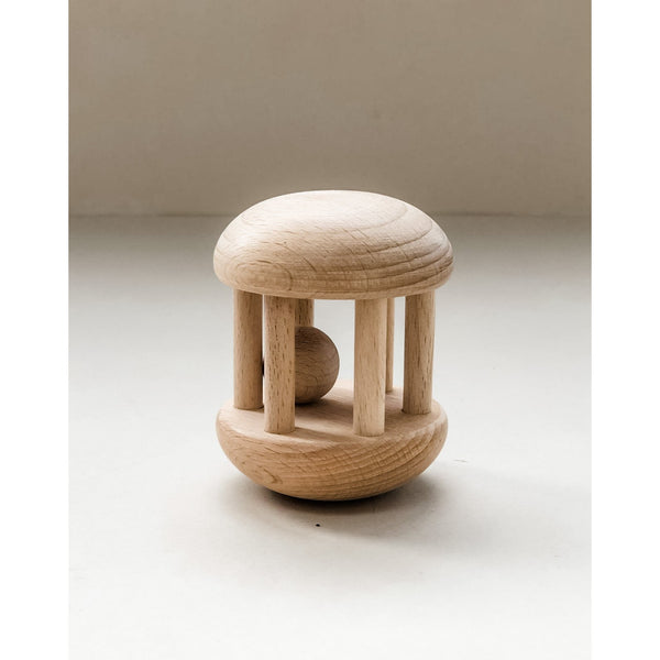 Wooden Mini Roller Rattle