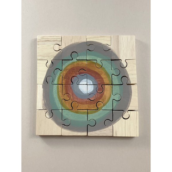 Papoose Earth Moon Wooden Puzzle