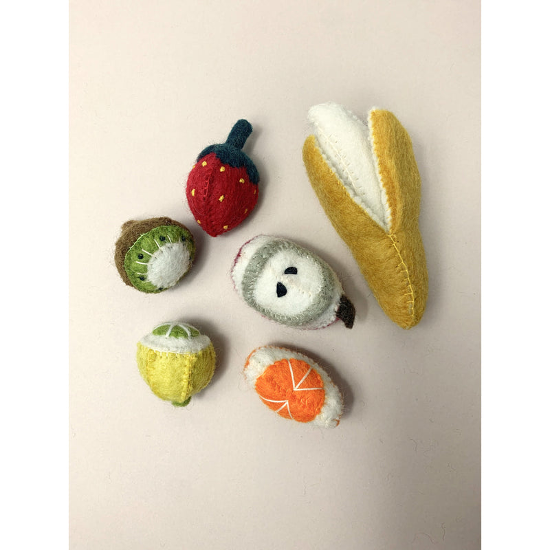 Papoose Felt Wool Mini Fruit Set