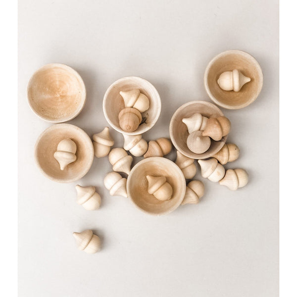 Wooden Sorting Acorns